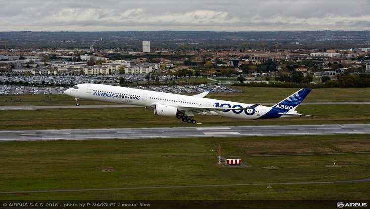 First flight of Airbus A350-1000