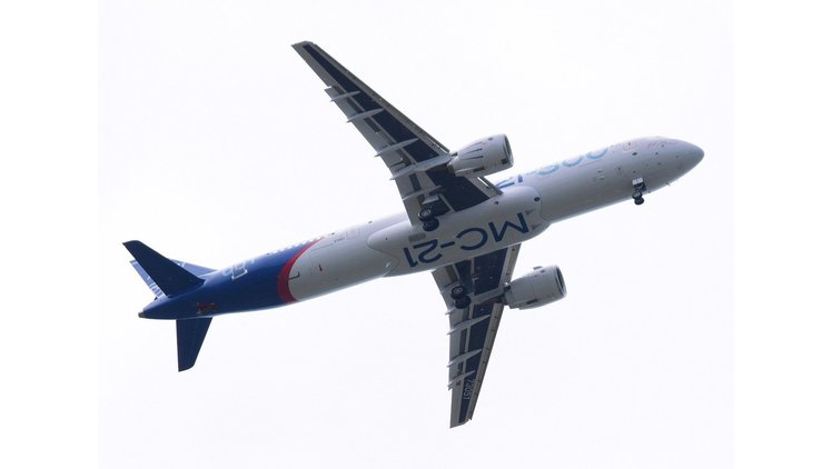 Russia's Irkut MC21 takes to the skies