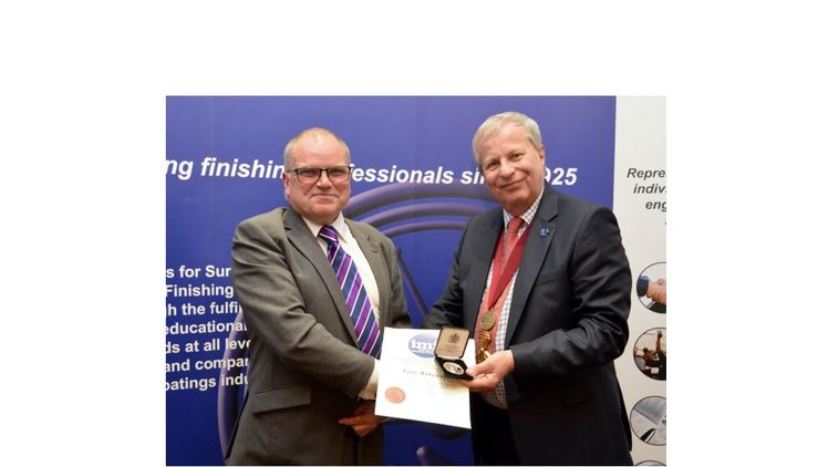 Poeton training manager receives Eddie Marlow Memorial Medal