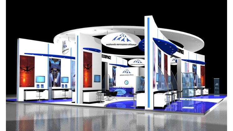 MAA's new stand design for the Farnborough airshow 2012