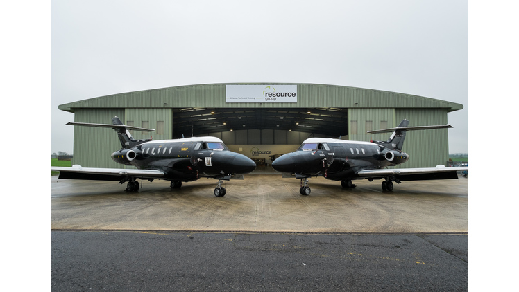 Apprentices trained by Resource Group receive ex-RAF training aircraft