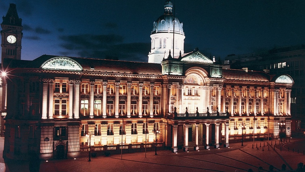 Birmingham Council House at night b
