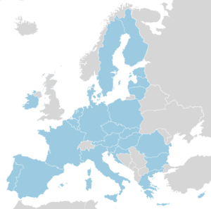 European Union without UK map