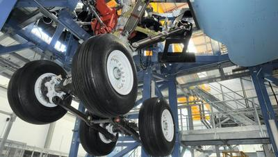 Airbus A350 landing gear on test