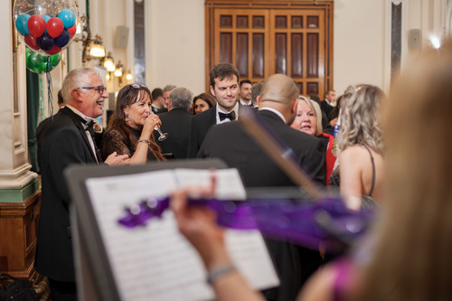 Drinks reception with violinist